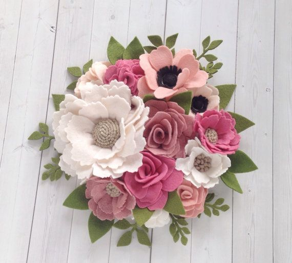 268 best Fabric flowers images on Pinterest | Felted ...