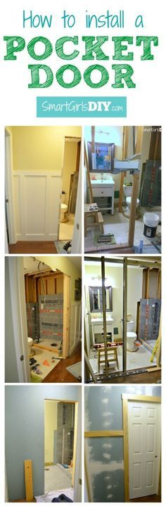 How To Install A Pocket Door Tutorial By Smart Girls Diy