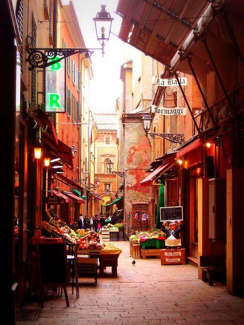Market in Bologna, Italy