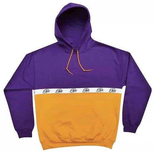 EDYNE clothing Sweat à capuche violet et jaune Capuche