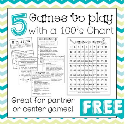 5 Games to Play with a Hundreds Chart | Classroom Freebies