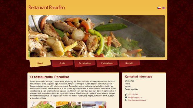 Profesionální webové šablony pro restaurace, salóny, řemeslníky...