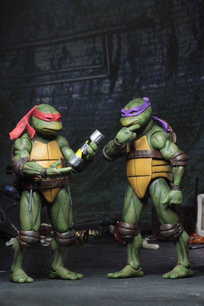 Neca 7 Teenage Mutant Ninja Turtles 1990 Movie Box Set