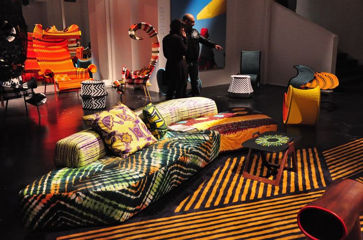 la folie du wax la d coration africaine african prints and wax in d co ethnique and so. Black Bedroom Furniture Sets. Home Design Ideas