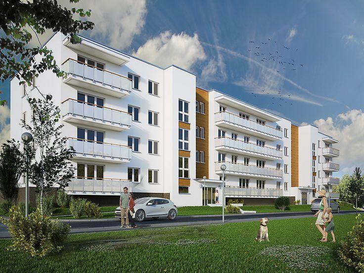 Spokojny to budynek wielorodzinny, w którym na 4 kondygnacjach zaprojektowano 39 mieszkań. W podziemiu znajduje się garaż z 40 miejscami postojowymi oraz kotłownia i pomieszczenia gospodarcze. Pełna prezentacja projektu znajduje się na stronie: http://www.domywstylu.pl/projekt-domu-spokojny.php. #projekty, #wielorodzinne, #mieszkania, #spokojny, #domywstylu, #mtmstyl