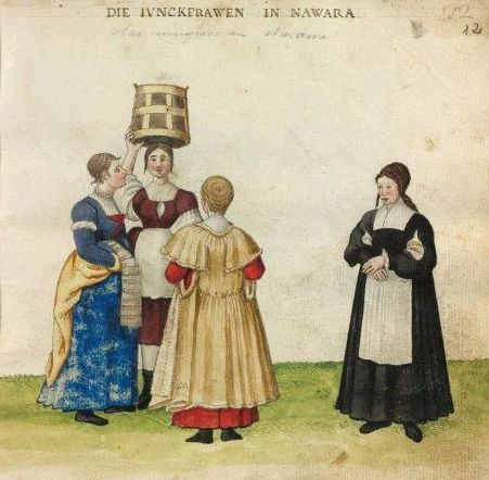 Women of Navarre. Codex Madrazo-Daza, 16th century. National Library of Spain.