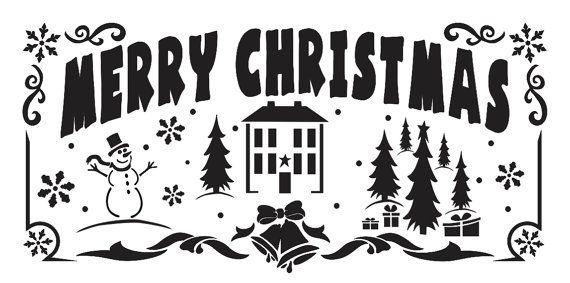PLANTILLA de vacaciones de Navidad primitiva por OaklandStencil