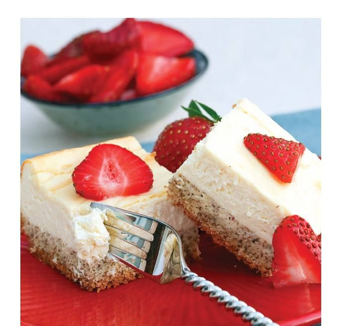 "Double Click Slowly on Pic for Recipe...""Low Carb"" Cheesecake Squares.... by George Stella ...visit us at ""Low Carbing Among Friends"" on Facebook"