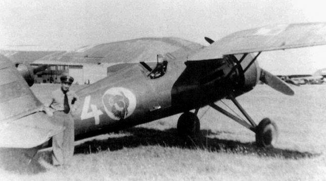 PZL P-11c, withe 4, pilot ppor.  Jan Dzwonek, 161 eskadra myśliwska (161 fighter squadron)