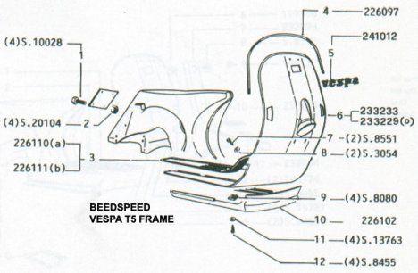 T5: Vespa T5 Parts