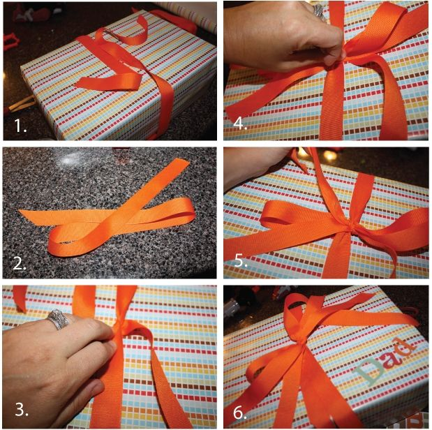 How to tie a perfect bow. #howto #wrapping #bows