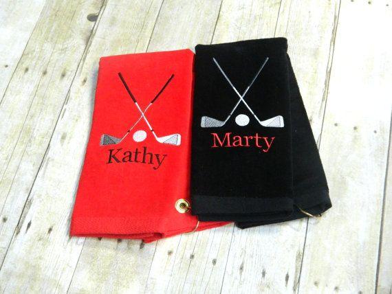Custom Golf Towel Personalized Golf Towel by AmysCustomCreation