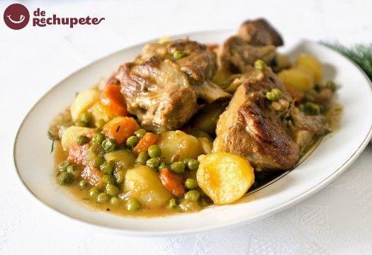 Guiso de cordero con patatas  http://recetasderechupete.hola.com/guiso-de-cordero-con-patatas/10459/