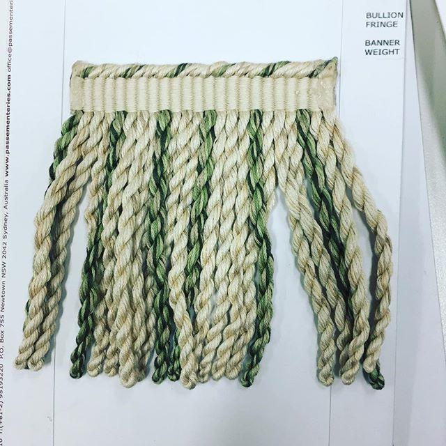 Morrison Polkinghorne Bullion Fringe  #fringe #fabric #boyac #luxury #interior #colour