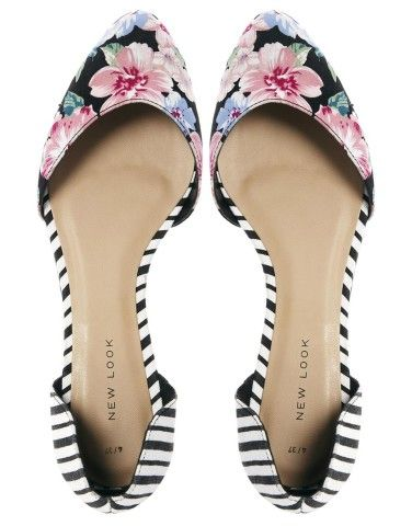 New Look | New Look Two Part Multi Print Flat Shoes at ASOS.... Loving the mixed prints