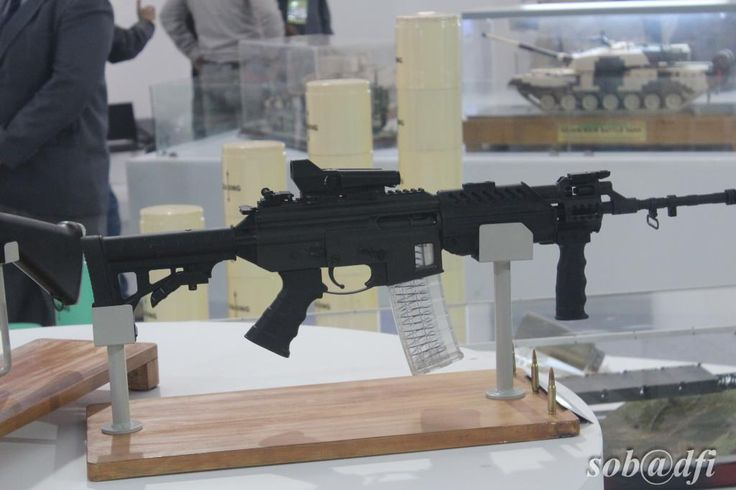 'DRDO MCIWS (Multi Caliber Individual Weapon System) Ghatak' assault rifle which will replace the INSAS rifles of the Indian army[1024x682]