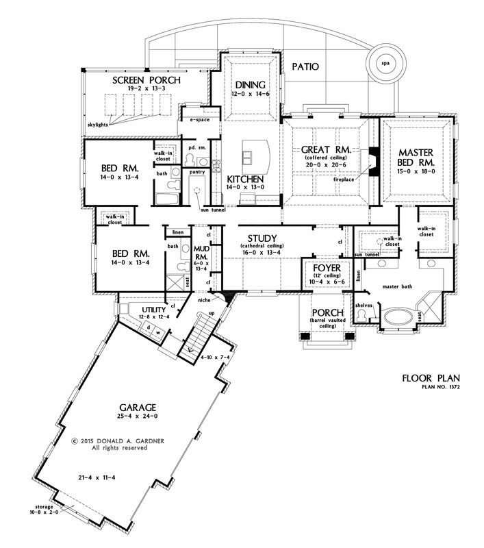 Plan of the Week over 2500 sq ft - The Bartlett 1372!  3322 sq ft, 3 beds, 3.5 baths. #WeDesignDreams