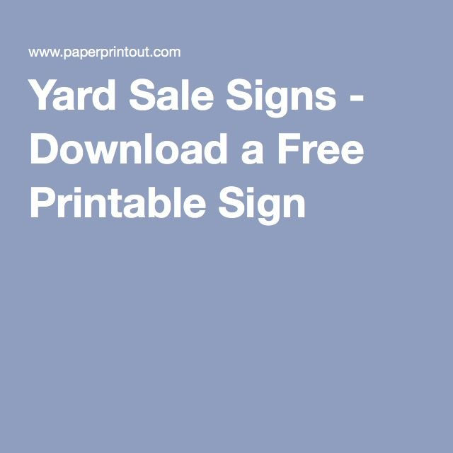 17 Best ideas about Yard Sale Signs – Car for Sale Sign Template Free
