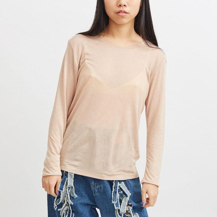 Long Sleeve T Shirt - Nude