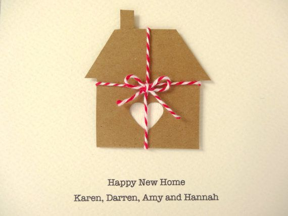 Personalized New Home Card rustic housewarming by FluffyDuck