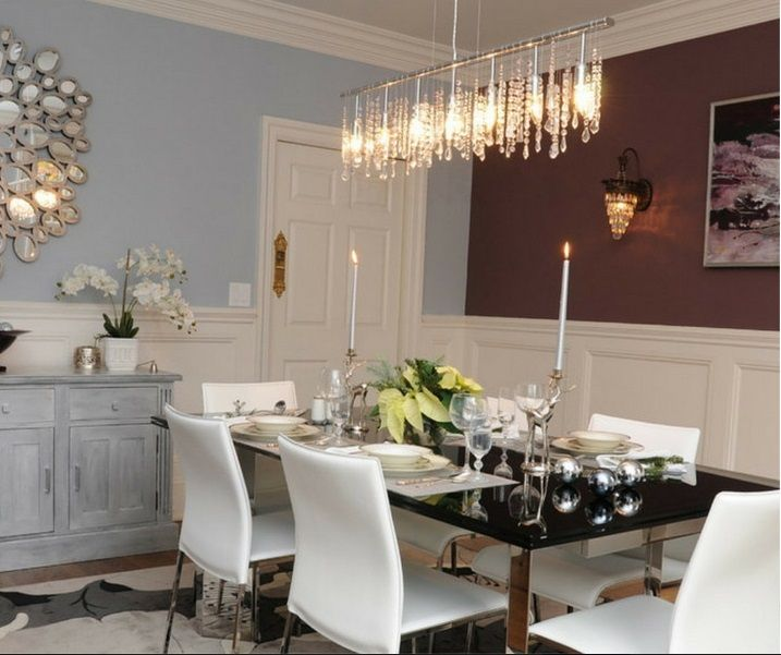New York City Design 9 Light 40 Linear Pendant With Clear European Crystal Dining RoomsChandelierNew