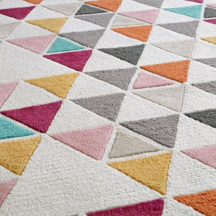Totally Triangular Rug Swatch The Land Of Nod Kids