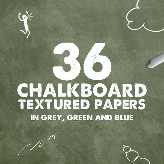 Chalkboard digital paper: CHALKBOARD PAPER with by NUUGraphics