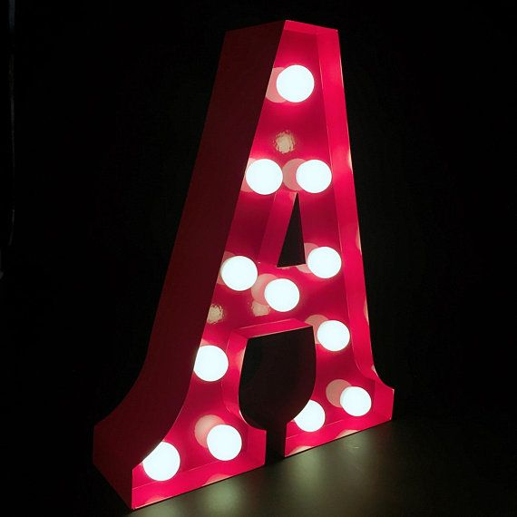 9metal Handmade A Z Red Letters Light Up Alphabet Etsy Light Letters Light Up Marquee Letters Wedding