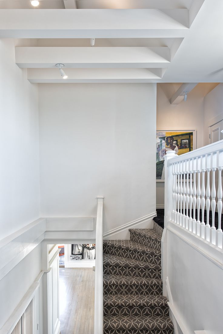 Exceptional Beautiful Stairway With Carpet Risers And Treads. The Pickets And Newel  Posts Are Mode From