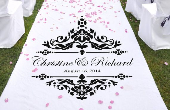 Damask Wedding Aisle Runner Stencil WW928 by WalltoWallStencils, $29.00