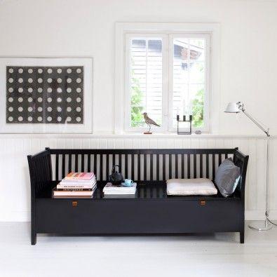 Stor sort slagbænk - Oliver Furniture
