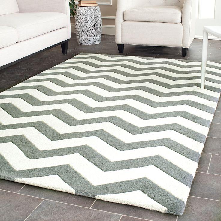Die besten 25+ Graue chevron teppiche Ideen auf Pinterest - teppichbode schlafzimmer grau