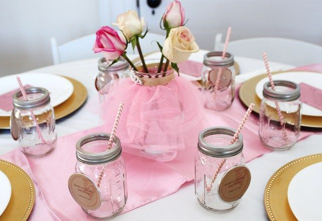 centerpieces ballerina baby showers baby shower parties party ideas