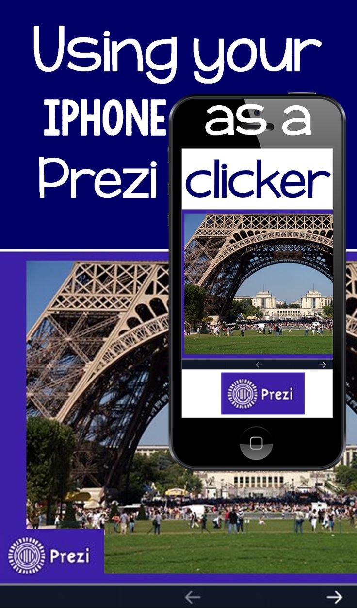 How to use your iphone to advance Prezi slides.