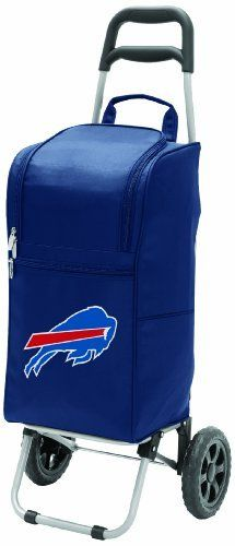 NFL Buffalo Bills Insulated Cart Cooler with Wheeled Trolley, Navy by Picnic Time. NFL Buffalo Bills Insulated Cart Cooler with Wheeled Trolley, Navy. Navy.