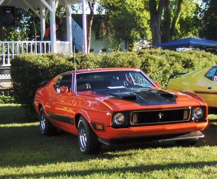 1973 Mustang Mach 1 Peanut Butter Cup Orange..Re-pin Brought to you by agents of car insurance at #HouseofInsurance in #EugeneOregon for #CarInsurance