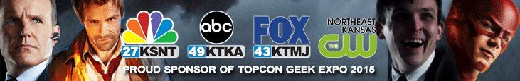 Here is your first look at the Banner Ad created by KANSAS FIRST NEWS to announce their exclusive sponsorship of TOPCON GEEK EXPO 2015 www.topcon.us #TopCon #TopConGeekExpo #KansasFirstNews #Topeka #Kansas