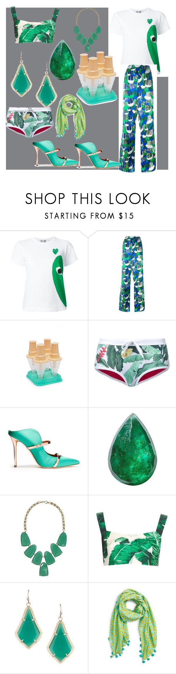 """""""set sale alert"""" by denisee-denisee ❤ liked on Polyvore featuring Play Comme des Garçons, Dsquared2, Sunnylife, Duskii, Malone Souliers, Loquet, Kendra Scott, Dolce&Gabbana, San Diego Hat Co. and vintage"""