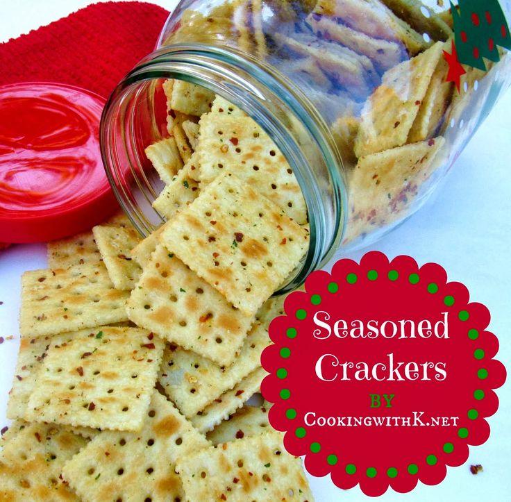 Red Pepper Seasoned Crackers | www.cookingwithk.net