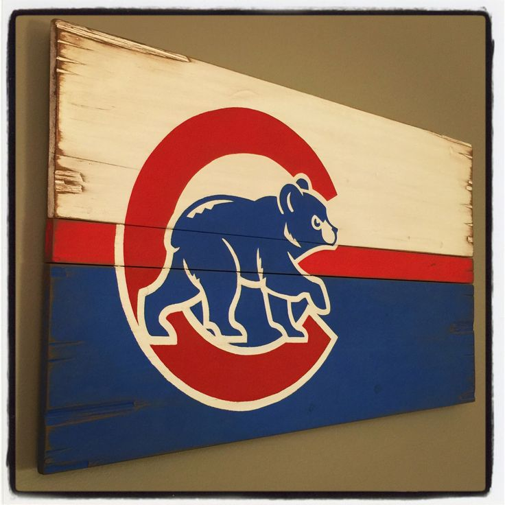 Chicago Cubs Rustic Wooden Flag by RusticWoodsChicago on Etsy https://www.etsy.com/listing/235492134/chicago-cubs-rustic-wooden-flag