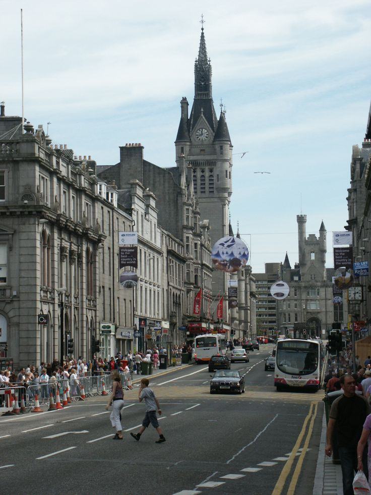 Aberdeen - Old Town buildings all of Granite.  Beautiful!