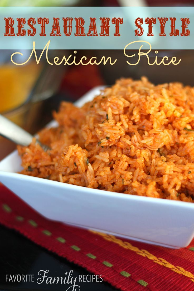 ... Mexican Rice from favfamilyrecipes.com #mexicanrice #rice #mexicanfood