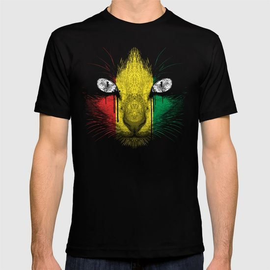 Rasta Meow T-SHIRT BLACK SMALL MENS FITTED TEE #society6 #mashup #cat #pets #mensclothing #fashion #discount #cat #lovers