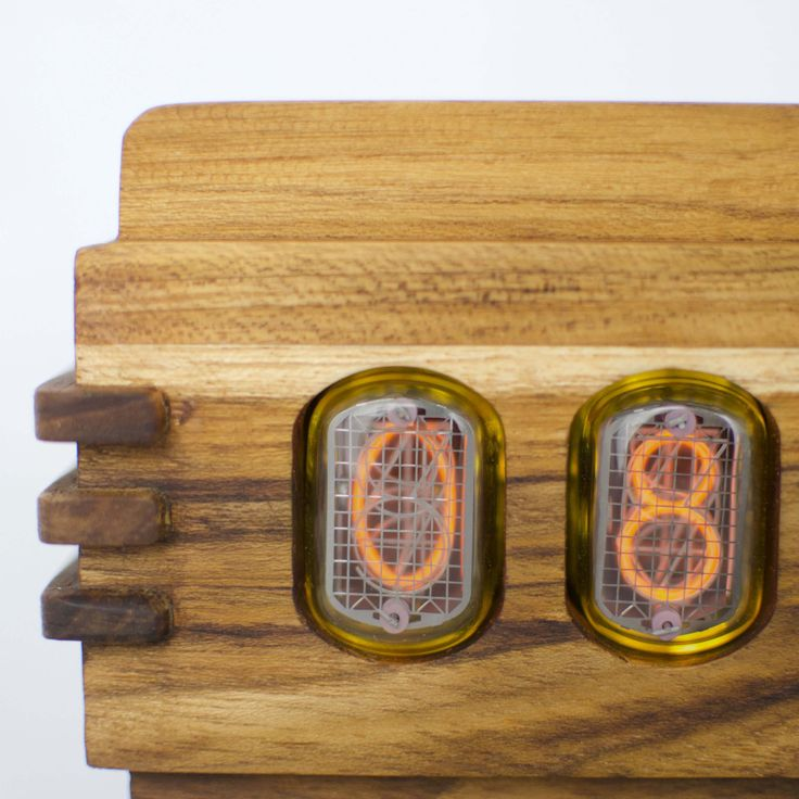 The Vintage Nixie Tube Clock - Volta #Nuvitron #gadget #nixie #realization #homeinterior #gift #woodcurls #contemporary #sixties #desingwanted #artdecotimepiece #retrotimepiece #vintagetimepiece #timepiece #IN12