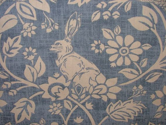 Heathland Hares And Game Birds Indigo Cotton Designer