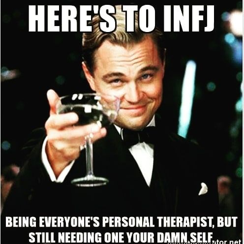 Image result for INFP being a therapist and needing one yourself