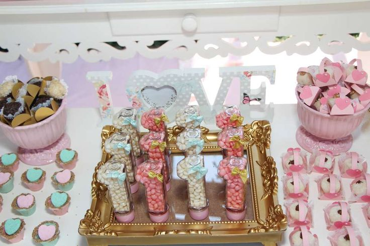 Pink, Gold and Mint Heart Party Birthday Party Ideas   Photo 1 of 11   Catch My Party
