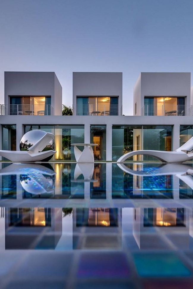Designed By Nestor Sandbank, This Unique Contemporary Villa Is Located In  Ramot Hashavim, Israel. It Has An Extensive Landscaping Program, With A  Perfectly ...