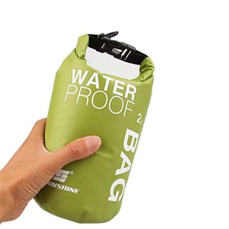ポータブル2l防水バッグ収納ドライバッグ用カヌー携帯電話カメラ屋外自転車サイクリングラフティングバイクアクセサリー