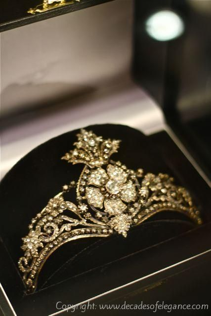 Late 18th Century tiara with rose cut diamonds at DBGems, Grays Antique Market
